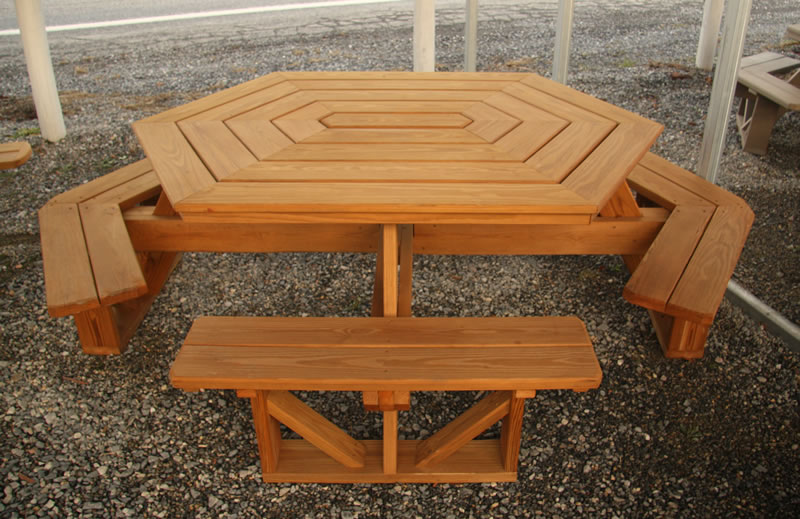 Outdoor Picnic Tables in addition Sheltered Picnic Table Plans ...